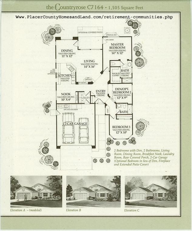 Sun city roseville floorplans for Sun country homes floor plans