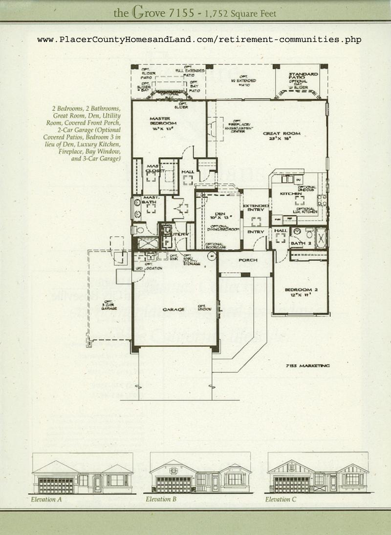 Sun City Roseville Homes Plans House Design Plans