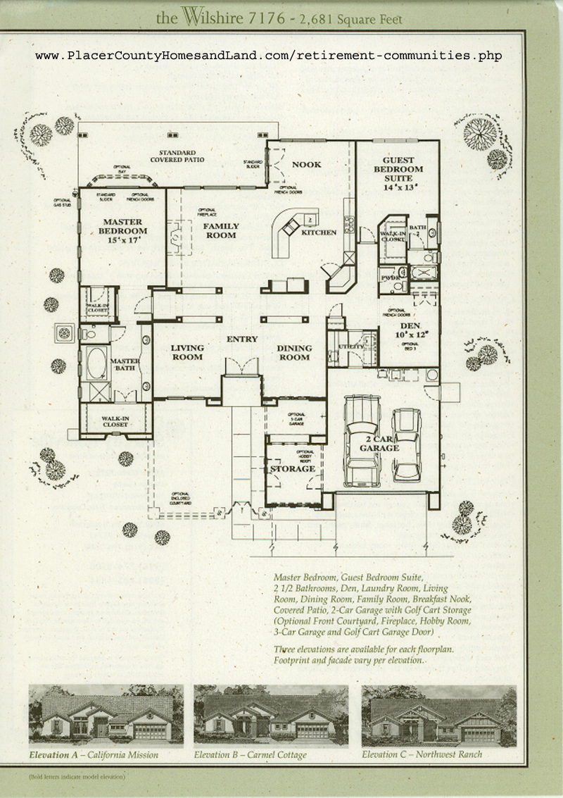 sun city roseville floorplans